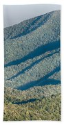 The Simple Layers Of The Smokies At Sunset - Smoky Mountain Nat. Beach Towel