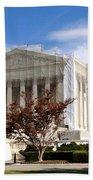 The Supreme Court Facade Beach Towel