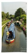 The Trent And Mersey Canal At Alrewas Beach Towel