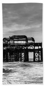 The West Pier In Brighton Beach Towel