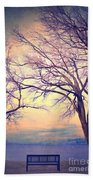 The Yesterday Bench Beach Towel