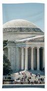 Thomas Jefferson Memorial In Washington Dc Usa Beach Towel