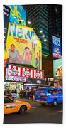 Times Square - New York City Beach Towel