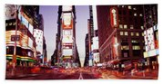 Times Square, Nyc, New York City, New Beach Towel