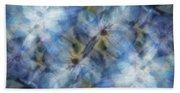 Tissue Paper Blues Beach Towel