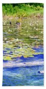 Torch River Water Lilies Beach Towel