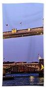 Tower Bridge In London At Dusk Beach Towel by Elena Elisseeva