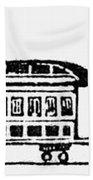 Train, 19th Century Beach Towel