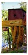 Tree House Boat Beach Towel