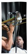 Musician Trombone Shorty Beach Towel