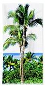 Tropical Palm Trees Beach Towel