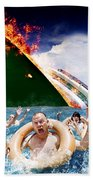 Trouble In Paradise Beach Towel