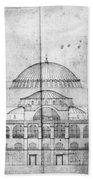 Turkey: Hagia Sophia, 1830s Beach Towel