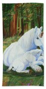 Unicorns Lap Beach Towel