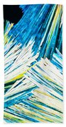 Urea Or Carbamide Crystals In Polarized Light Beach Towel