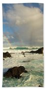 Usa, Hawaii, Rainbow Offshore Beach Towel