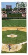 Usa, Illinois, Chicago, Cubs, Baseball Beach Towel