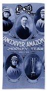 Vancouver Amazons Women's Hockey Team 1921 Beach Towel