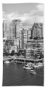 Vancouver Bc Downtown Skyline At False Creek Canada Beach Towel