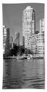 Vancouver Bc Downtown Skyline Beach Towel
