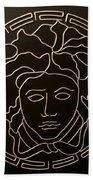 Versace Medusa Head Beach Towel by Peter Virgancz