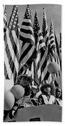 Veteran's Day Parade University Of Arizona Tucson Black And White Beach Towel