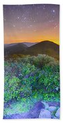 View Of The Appalachians From Craggy Pinnacle Near The Blue Ridg Beach Towel