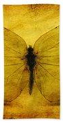 Vintage Grunge Butterfly Beach Towel