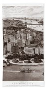 Vintage New York 1903 Beach Towel
