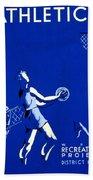 Vintage Poster - Wpa - Athletics 2 Beach Towel