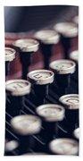 Vintage Typewriter Keys Beach Towel