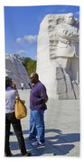 Visitors At The Martin Luther King Jr Memorial Beach Towel