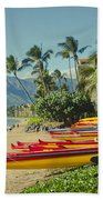 Kenolio Beach Sugar Beach Kihei Maui Hawaii  Beach Towel