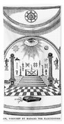 Washington Masonic Apron Beach Sheet