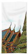 Wat Po In Bangkok-thailand Beach Towel