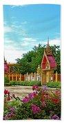 Wat Tha Sung Temple In Uthaithani-thailand Beach Towel