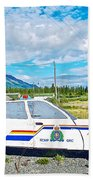 Watch Out For The Rcmp Near Destruction Bay In Yukon-canada Beach Towel