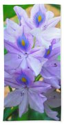 Water Hyacinth Beach Towel