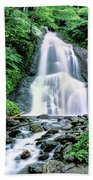 Waterfall In A Forest, Moss Glen Falls Beach Towel