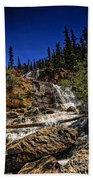 Waterfall In Jasper 1 Beach Towel