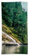 Waterfall Jervis Inlet Beach Towel