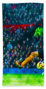 Wayne Rooney Of Manchester United Scores Their Second Goal Beach Towel