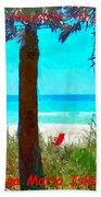 We Saved A Place For You Beach Towel