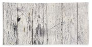 Weathered Paint On Wood Beach Towel