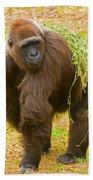 Western Lowland Gorilla Female Beach Towel