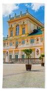 Wilanow Palace In Warsaw Poland Beach Towel