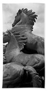 Wild Mustang Statue Beach Towel