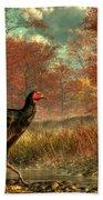 Wild Turkey Beach Towel by Daniel Eskridge