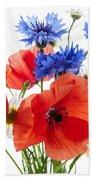 Wildflower Bouquet Beach Sheet