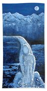 Winter Goddess Beach Towel